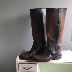Frye brown riding boots size 8